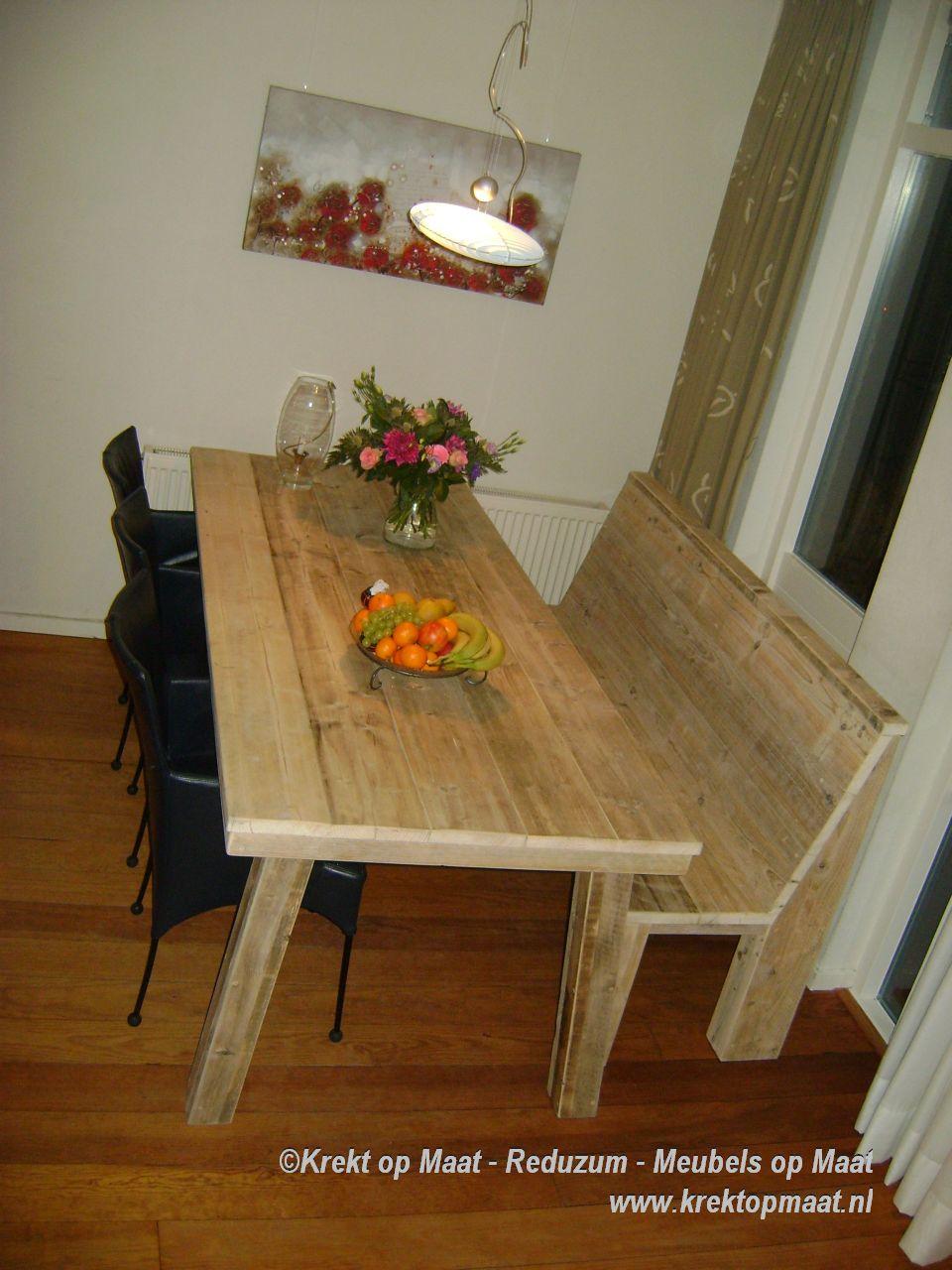 Tafels for Eethoek steigerhout