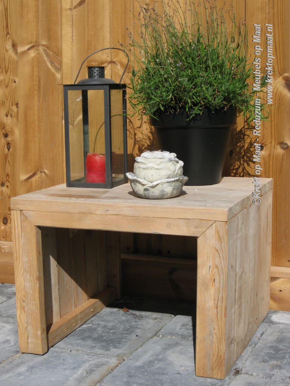 Tuin meubilair for Bijzettafel steigerhout